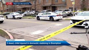 2 dead, child injured, in Brampton domestic assault